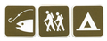 Signs - Camping, Hiking, Fishing