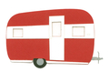 Vintage Trailer Camper -Red