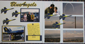 This layout is by Amy Yaley. <br />The Blue Angles planes and <br />the Blue Angels title were <br />used for this layout.
