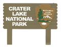 Crater Lake National Park Sign